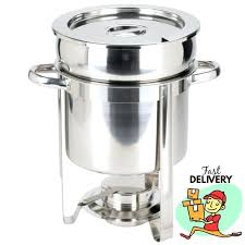 Small Chafing Dish Choice Deluxe 7 Qt Stainless Steel Soup New Ceramic