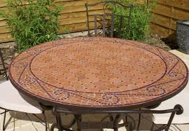 table ronde mosaique fer forge exceptionnel table mosaique fer forge 3 table jardin mosaique
