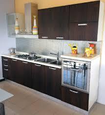 Inspiring Small Modular Kitchen Decoration Idea Foxy Using Mounted Wall Steel