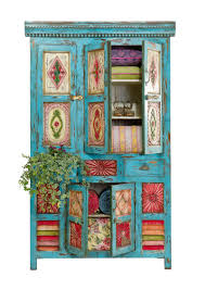 Bohemian Bedroom Furniture For Upmost Look Rustic Home Of Blue Painted Wooden Cabinet