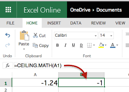 Excel Floor Ceiling Functions by Math Function
