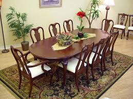 Mahogany Dining Room Set Furniture Drop Leaf Kitchen Table Chairs