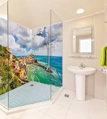 3d tier ozean tapete badezimmer drucken abziehbild mauer