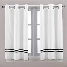 Bed Bath And Beyond Curtains And Drapes by Hookless Escape 45 Inch Bath Window Curtain Panels In Black White