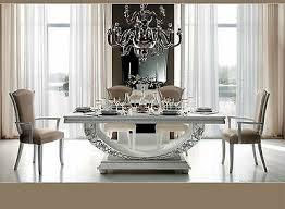 luxus esstisch ausziehbar hochglanz esszimmer miro