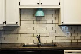 installing backsplash new at modern subway tile kitchen