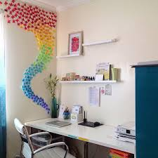 So About A Million Punch Cuts Of Paper Butterflies Later I Created This Colorful Wall Installation Beside The Aching Palm After Punching All