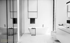 Extravagauza Interiors Contemporary Minimalist Bathroom Design Black ... New Modern Minimalist Bathroom Ideas Best Picture Hd Plaieautifulmornbarosonhomedesignwithis Spacious Design 3d Render Stock Photo 5 For Every Taste Staged4more Simple Designs Fr Small Spaces Dhlviews 42 Gorgeous But Looks Luxurious Inspiration Hugo Oliver Bright Glass Shower Edit Now Bathroom Tips Purist Design Hansgrohe Sg 40 Style Bathrooms 48 Ingenious Contemporary Inspiring