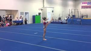 Dominique Moceanu Floor Routine by Floor Level 7 Age 10 Youtube
