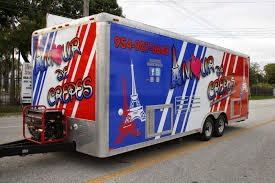 Food Truck Concession Trailer Vinyl Wrap Fort Lauderdale Florida New York Subs Wings Food Truck Brings Flavor To Fort Lauderdale City Of Fl Event Calendar Light Up Sistrunk 5 Car Wrap Solutions Knows How To Design Your Florida Step Van By 3m Certified Xx Beer Yml Portable Rest Rooms Vinyl Vehicle Burger Amour De Crepes Ccession Trailer This Miami Is Run By Atrisk Youths Wlrn