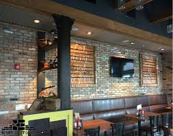 A Red Brick Veneer Wall In Restaurant Mortonstones Brickwall