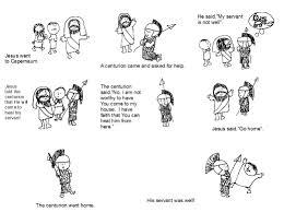 Bible Coloring Pages For Kids Jesus Cures Centurion Servant