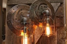 Harley Davidson Light Fixtures by Steampunk Industrial Lamp Harley Davidson Motorcycle Gas Tank 385