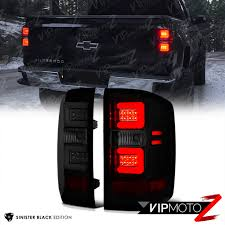 SINISTER BLACK] Dark Smoke LED Neon Tube Tail Light 16-18 Chevy ... Truck Led Headlight 7 With Park Light Adr Approved Lights Submersible Red 23led Light Bar Stop Turn Tail 3rd Brake Lights Bars Headlights Fog Driving Off Road The Roofmounted Led Is Cab Visors Cousin Drive New Aftermarket Used For Most Medium Heavy Duty Trucks Kelsa High Quality Accsories The Trucking Trucklite 15250y 15 Series Yellow Rectangular Marker Clearance 24v Old Benz Truck Tail Rear Lamp Buy 2 Red 4 Round Trailer Brake With Tailgate Signals Xenonhidscom 2x Amber 3 Fish Shape Side Lamp