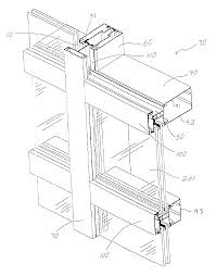 patent us6804920 tube lock curtain wall system google patents