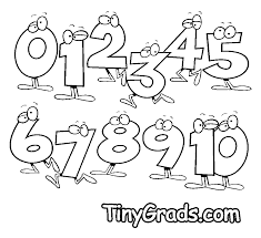 Nice Numbers Coloring Pages 012345