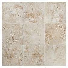 shop american olean bordeaux 6 pack creme porcelain floor and wall