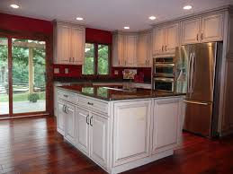 kitchen wall paint color with black granite countertops and