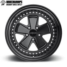 Welded Custom Forged Wheels FUC Blk Gloss Clear Center With Matte And