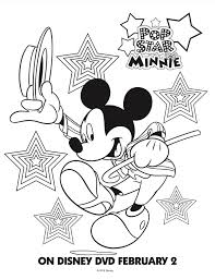 Free Mickey Mouse Club House Coloring Pages Pop Star Minnie