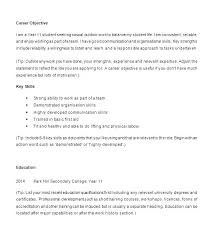 List Of Resume Objectives Example Key Skills Samples Format Sample Objective High School
