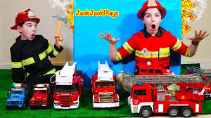 100 Fire Truck Halloween Costume Pretend Play Fighter Skit With Bruder Toys And