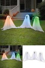 Halloween Yard Stake Lights by Set 3 Light Up Color Changing Haunting Ghosts Spooky Halloween