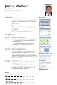 Program Finance Intern Resume Samples