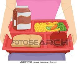 Clip Art Of Diet Lunch Tray K28221099