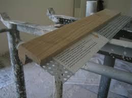 pose escalier avec nez de marche en bois stephanecarrelage
