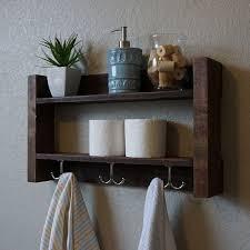 Simply Modern Rustic Bathroom Shelf With 18 Industrial Style Towel Bar