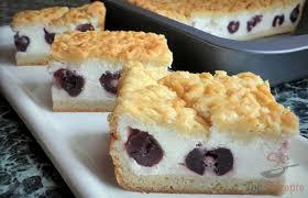 raspelkuchen mit joghurt kirsch füllung