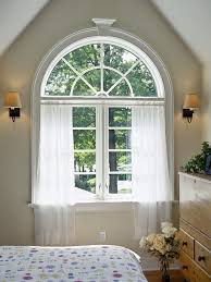 Bendable Curtain Rod For Oval Window by Half Round Window Curtains Designs Moon Arched Scalisi Architects