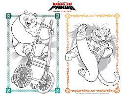 Kung Fu Panda Coloring Sheets