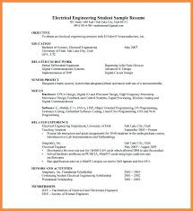 Resume For Electrical Engineer Download A Sample Fresher Senior