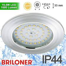 briloner led power spot einbau 85mm 10 5w ip44 chrom city wuppertal