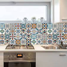 Accent Tiles For Kitchen Backsplash Decorative Tiles Stickers Motril Pack Of 16 Tiles Tile Decals For Walls Kitchen Backsplash Bathroom 6 X 6 Inches