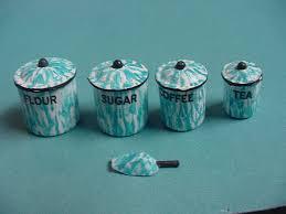 Turquoise Kitchen Canister Sets by Flow Blue Enamel Kitchen Canister Set 14 75 Kent U0027s Mini
