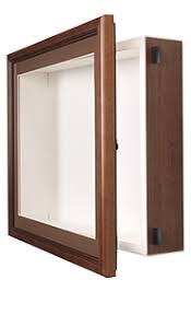 SwingFrame Designer Wall Wood Display Case 4 Deep