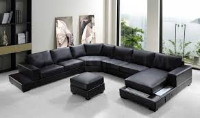 Leather Sectional Living Room Ideas by Furniture Fresh Modern Black Leather Sectional Couches On White