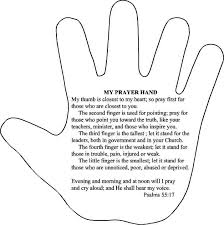 Prayer Hand Idea For Kids Unit
