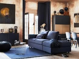 wohnzimmergestaltung mit blauem sofa vimle ikea deutschland