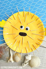 Puffer Fish Paper Plate Craft