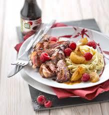 magret de canard au miel et sauce soja aux framboises les