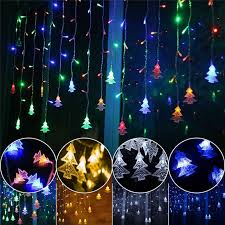 5M 35M Led Curtain Christmas Tree Icicle String Lights Fairy New Year