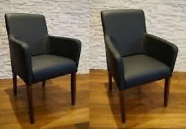 details zu schwarzes echtleder stühle esszimmerstühle stuhl sessel mit armlehnen echt leder
