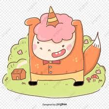 Dibujos Animados Lindos Dibujos De Unicornios Elementos Creativos