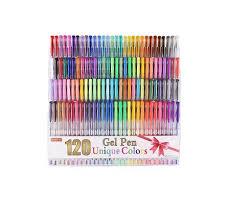 120 Unique Colors Gel Pens Set For Adult Coloring Books 1698 At Amazon