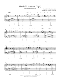 Empty Chairs At Empty Tables Chords by Married Life By Michael Giacchino Piano Sheet Music Intermediate