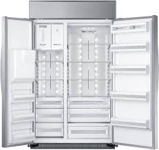 samsung rs27fdbtnsr 48 inch built in side by side refrigerator